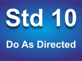 Do As Directed for std 10