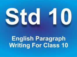 English Paragraph Writing For Class 10