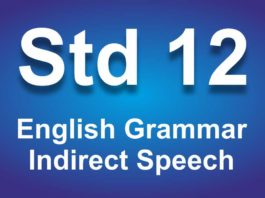 English Grammar Class 12 Indirect Speech