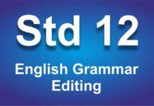 English Grammar class 12 Editing