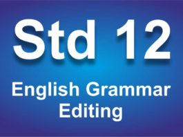 English Grammar class 12 Editing