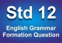 English Grammar class 12 Formation Question