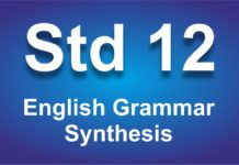English Grammar class 12 Synthesis